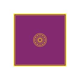 Tapis violet  ésotérique 80 x 80 cm