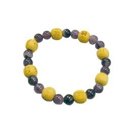 Bracelet perles de karma - Améthyste