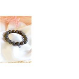 """Bracelet de Perles rondes  de 12 mm """"Labradorite"""""""