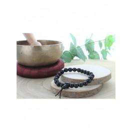 Bracelet Mala en Obsidienne Noire