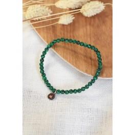 Bracelet en perles rondes de malachite 4 mm