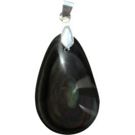 Pendentif Obsidienne Oeil Céleste double face - pierre percée
