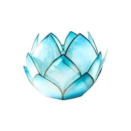 Bougeoir Lotus Crépuscule - Turquoise